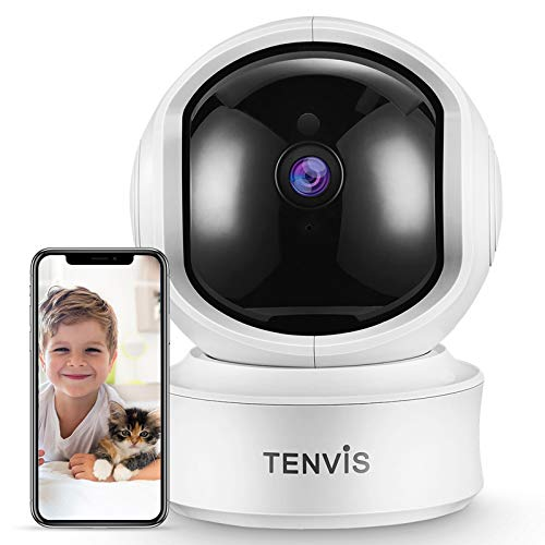 TENVIS 2K 3MP Indoor Security Camera - Dog Camera with Phone App, Sound/AI Motion Detection & Auto Tracking, Pan/Tilt WiFi IP Camera, 2 Way Audio, Night Vision, Works with Alexa, Baby/Nanny/Pet Camera