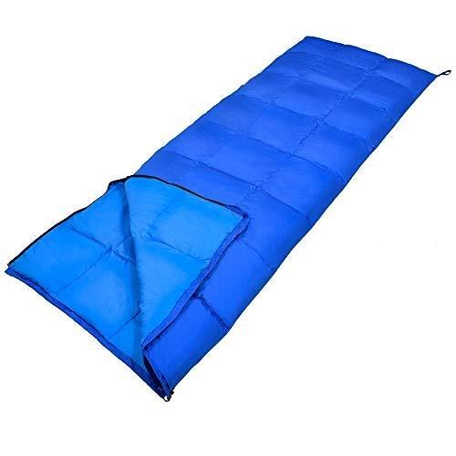 GEERTOP ダウン 寝袋 シュラフ封筒型 軽量 アウトドア 登山 キャンプ ハイキング バックパック 旅行 最低使用温度0度 収納袋付き