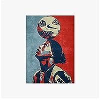 LMAGGG キャンバスプリントデコレーション画像サッカー選手ロナウジーニョデアシスモレイラポートレートウォールアートポスター家の装飾絵画-50x70cmフレームなし
