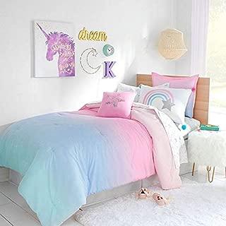 Kids Bedding Rainbow Ombre Stardust Girls Full/Queen Comforter & Pillow Shams + Homemade Wax Melts