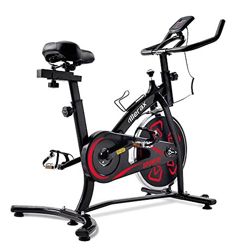 Delisouls, cyclette da interno con console LCD, comodo sedile regolabile e manubrio, durevole, comodo per allenamento cardio