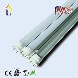 (100パック) ETL経済ランプg13t8LEDライトチューブ8ft 48W smd2835240leds 3000K/4000K/6500KホワイトデイライトFluroscent交換用ストッキング