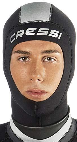 Cressi Hood Unisex Kopfhaube 3mm Neopren, Schwarz, M/3-4
