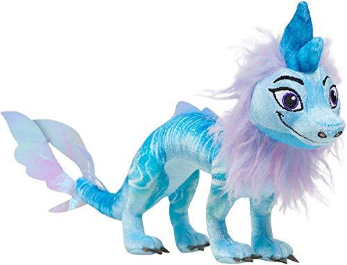 YHK El último dragón de Peluche - Peluche de Tuk Tuk - Muñeco de dragón Azul con Juguete de Peluche de dragón de Pelo (Last Dragon)