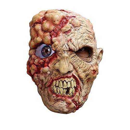 Máscara de látex Zombie Loco Animada