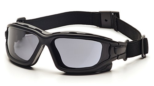 Pyramex I-Force Sporty Dual Pane  Anti-Fog Goggle,Black Frame/Gray Anti-Fog Lens