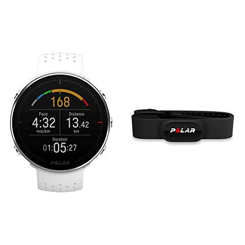 Polar Vantage M – Allround-Multisportuhr mit GPS und optischer Pulsmessung am Handgelenk & H10 Herzfrequenz-Sensor, Schwarz, ANT+, Bluetooth, EKG, Wasserdichter Herzfrequenz-Sensor mit Brustgurt