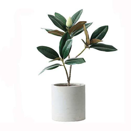 Árbol artificia Árboles de magnolia artificial planta árbol falso para interior al aire libre, plantas de imitación para la decoración de la oficina del jardín del hogar Árboles Artificiales decoracio