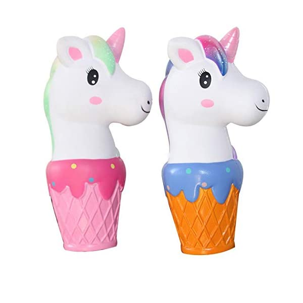 YXJC Fun Toys Squishies, Unicorn ice Cream Squishy, Creamy Aroma Slow Rising Squeeze Toys for Stress Relief (Color : Starry Sky) 6