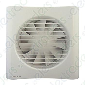 Deta 4601 Axial ventilador Extractor 4 Inch/100 mm temporizador ...