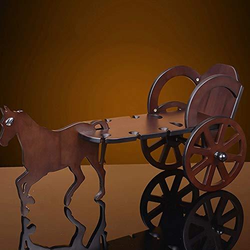 ZXL Houtwijnrekken eenvoudige en moderne huiswijnen zilver smit opgehangen kast houten houder Drank houder glazen wijnen van de wiegen fles wijnrek voor Wine Cellar Bar Restaurant Lounge van wijn op een
