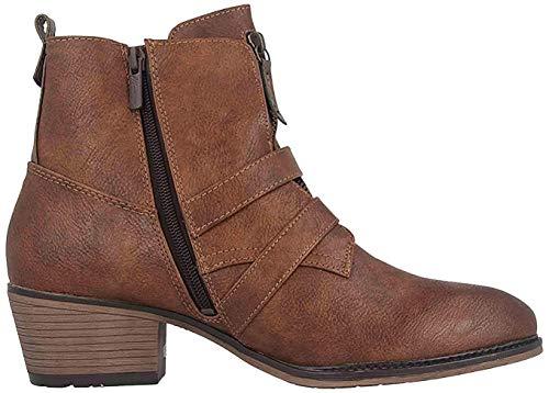 Botas de vaquero para mujer Mustang 1346-501-360, color Marrón, talla 43 EU