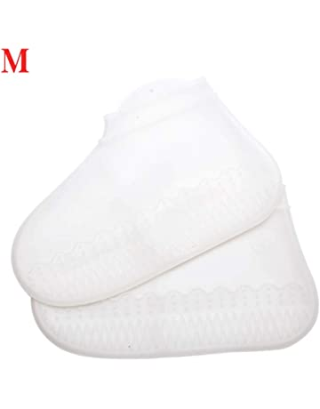 TOPBATHY 100pcs Disposable Shoe Covers Non Woven Shoes Cover Elastic Waterproof Anti Slip Shoe Boot Covers for Medical Lab Industry Blue Pink
