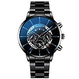 Momoxi Armbanduhr Herren Uhren Erwachsen Analog Quarz Uhr mit Mesh Gürtel Mode Cool Unique Digital...