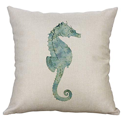 Xmiral Kissenhüllen Pillowcase Baumwollmischung Einfach Meeresflora und Fauna Gedruckte Kopfkissenbezug Kissenbezug Werfen(A,40x40cm)