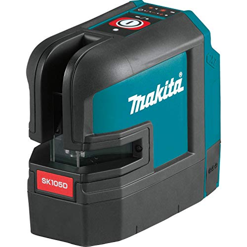 Makita SK105DZ Akku-Kreuz Linienlaser rot, 12 V, Blau, Silber - 6