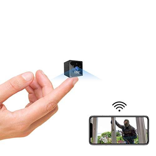 Mini Kamera, TODAYI 4K HD Mini Überwachungskamera Lange Batterielaufzeit Kompakte Kleine WLAN Sicherheitskamera für Innen WiFi Minikamera live Handy APP mit Bewegungsmelder Speicher Nachtsichtkamera
