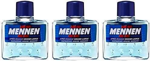 MENNEN - Lotion après-Rasage Homme Grand Large - 125 ml - Lot de 3