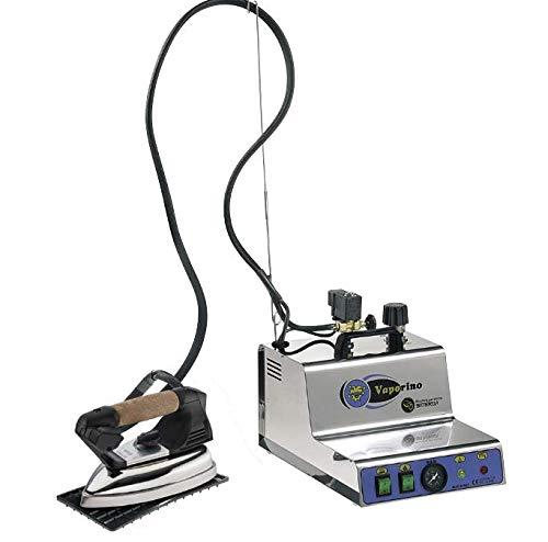 BATTISTELLA Vaporino Maxi Inox - Generador de vapor (2,3 L, con caldera de acero inoxidable, con plancha y suela de teflón)