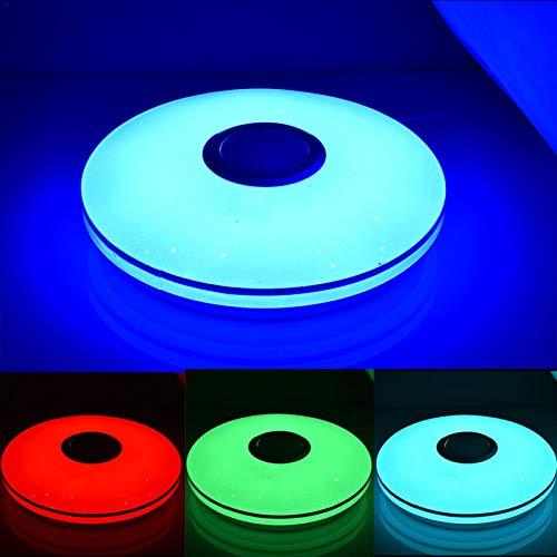 N/Z Deckenlampe 36W LED,Deckenleuchte Mit Bluetooth Fernbedienung,RGB Bunte Deckenleuchte,Musik Deckenleuchte Für Badezimmer/Schlafzimmer/Wohnzimmer