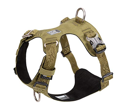 TOPSOSO Dog Harness Light Weight Dog Vest Harness Adjustable Outdoor Pet Medium Small Large Adjustable Outdoor Tactical Military Service