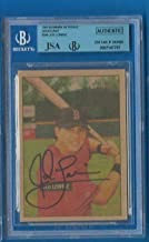JED LOWRIE Signed 2005 Bowman Heritage RC JSA BGS A's Astros Red Sox Autographed