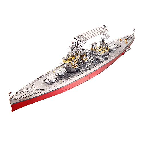 Piececool 3D Metal Model Kit for Adults -Hms Prince Of Wales Battleship DIY 3D Metal Jigsaw Puzzle for Adults