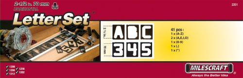 Milescraft 2201 2.5' Horizontal Letter Set - For Use with Milescraft Sign Making Kits