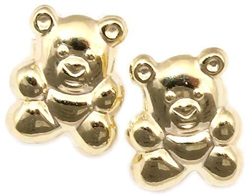 Kinderohrringe Bär Teddybär 585 Ohrstecker Gold Gelbgold Qualität Neu 14 karat