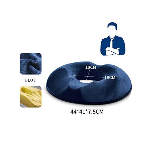 AO TE Memory Foam Großes Orthopädisches Steißbeinkissen Für Ischias, Rücken Und Steißbeinschmerzen,Blue,Man
