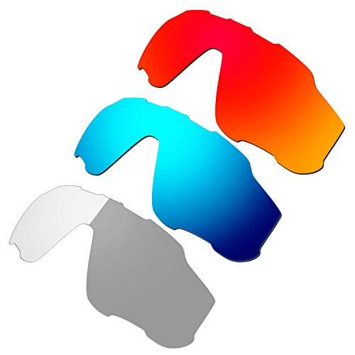 HKUCO Red/Blue/Transition/Photochromic Polarized Replacement Lenses For Oakley Jawbreaker Sunglasses