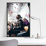 ganlanshu Rock Rap Music Hip-Hop Rapero póster Lienzo Pintura Vintage Arte de la Pared decoración,Pintura sin marco-80X120cm