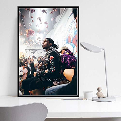Rock Rap Musik Hip-Hop Rapper Poster Leinwand Malerei Vintage Wandkunst Dekoration,Rahmenlose Malerei-50X75cm