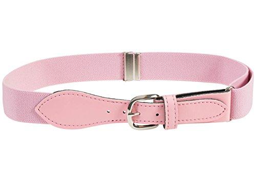 HOLD'EM Kids Toddler Belt Leather Closure Elastic - Light Pink