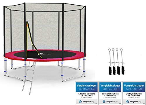 LifeStyle ProAktiv LS-T245-PA8 (RA) Trampolino da Giardino 245cm - Strength Rete di Sicurezza - New