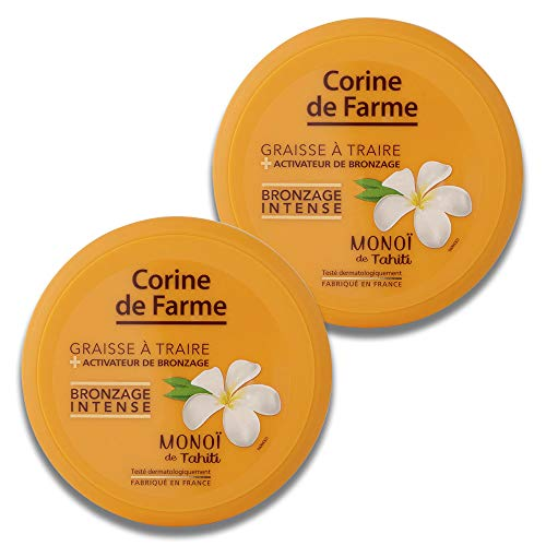 Corine de Farme Graisse à Traire en Pot avec Accélérateur de Bronzage 150 ml - Lot de 2
