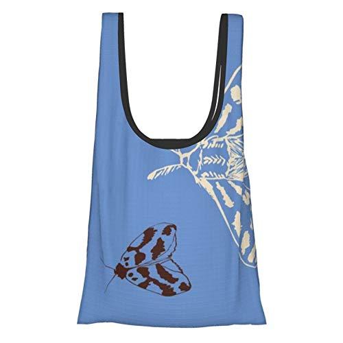 Woodland Moths - Toalla de té, bolsas de compras, bolsas de regalo, reutilizables, plegables, ecológicas, impermeables, antidesgarros, con bolsa