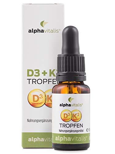 Vitamin D3 + K2 Tropfen hochdosiert & laborgeprüft - 525 Tagesportionen in MCT-Öl - K2 aus MK7 99,7% ALL TRANS optimale Bioverfügbarkeit