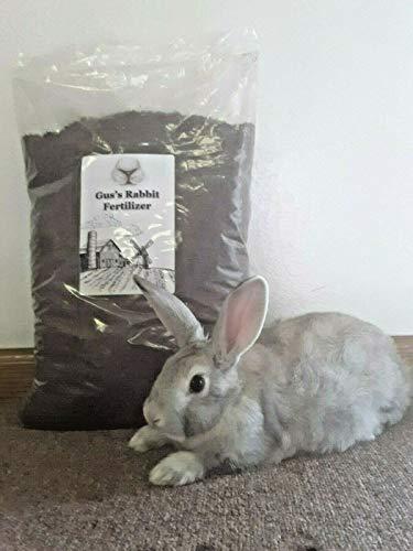 Gus#039s Rabbit Manure Fertilizer 15 Pounds 3 Bags 221 Dry amp Ground Nutrient Dense Compost for Planting amp Growing