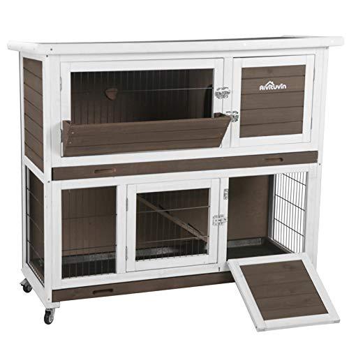 Aivituvin Rabbit Hutch Bunny Cage Indoor and Outdoor