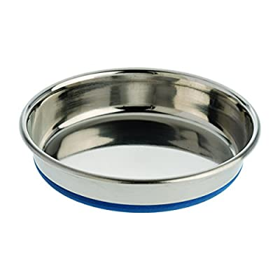 OurPets Durapet Cat Bowl (Heavyweight Durable Stainless Steel Cat Food Bowl or Cat Water Bowl) [Holds up to 1 Cup of Dry Cat Food or Wet Cat Food]