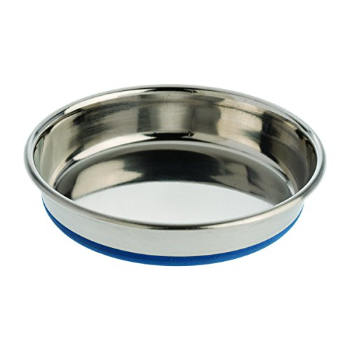 Our Pets Durapet Cat Bowl (Heavyweight Durable Stainless Steel Cat Food Bowl or Cat Water Bowl) [Holds up to 1 Cup of Dry Cat Food or Wet Cat Food]