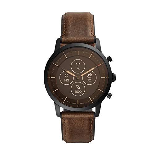 Fossil Smartwatch híbrido HR para Hombre con Pantalla de Lectura Siempre Activa, frecuencia cardíaca, Seguimiento de Actividad, notificaciones FTW7008