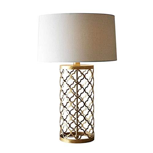 HGDD Lámpara de Piso Lámparas de Mesa de Jaula de pájaros de Oro para Sala de Estar Lámpara de Escritorio de Oficina Lámpara de Mesa Moderna LED de pie. (Lampshade Color : Small)