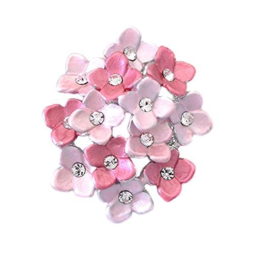 ニッケルフリー マスク アクセサリー あじさい 花 フラワー ブローチ マスクピアス マスクチャーム レディース 金属アレルギー マスクのおしゃれ ピンク