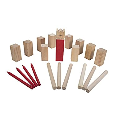 Triumph Kubb Viking Chess Outdoor Wooden Game Set for Players of All Ages