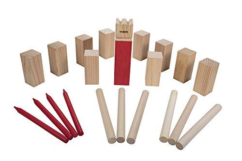 Triumph Premium Kubb Set - Includes 10 Kubb Blocks, 6 Tossing Dowels, 1 King Kubb 4 Corner Pegs