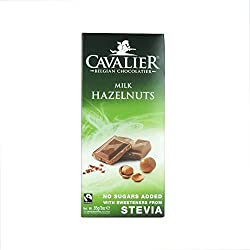 Innovative milk chocolate with crisp pieces of hazelnut Made with sweetener from a stevia plant Healthy, low in calories and tooth friendly Sweetened with steviol glycosides
