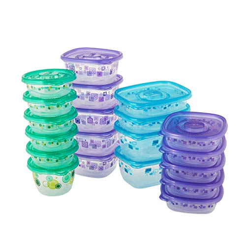 Glad Variety Pack Food Storage Containers Large Variety-20 Clear 20 Count