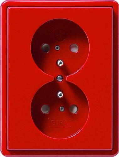 Gira 079543 dubbel stopcontact grondpen kinderbeveiliging S, rood